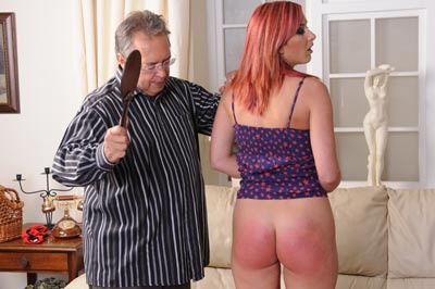 Zara paddled at Spanking Sarah