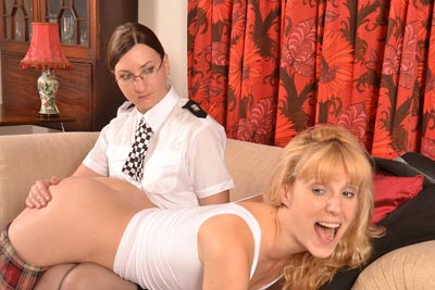 Amelia Jane Rutherford spanked by WPC Pandora Blake