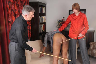 Danielle Hunt double caning
