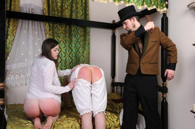 Two bare bottoms beaten at spankingsarah